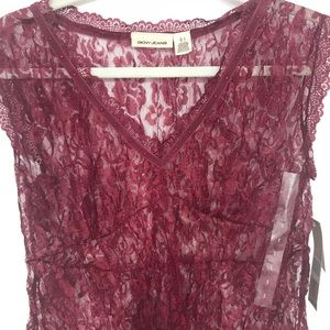 DNKY lace top